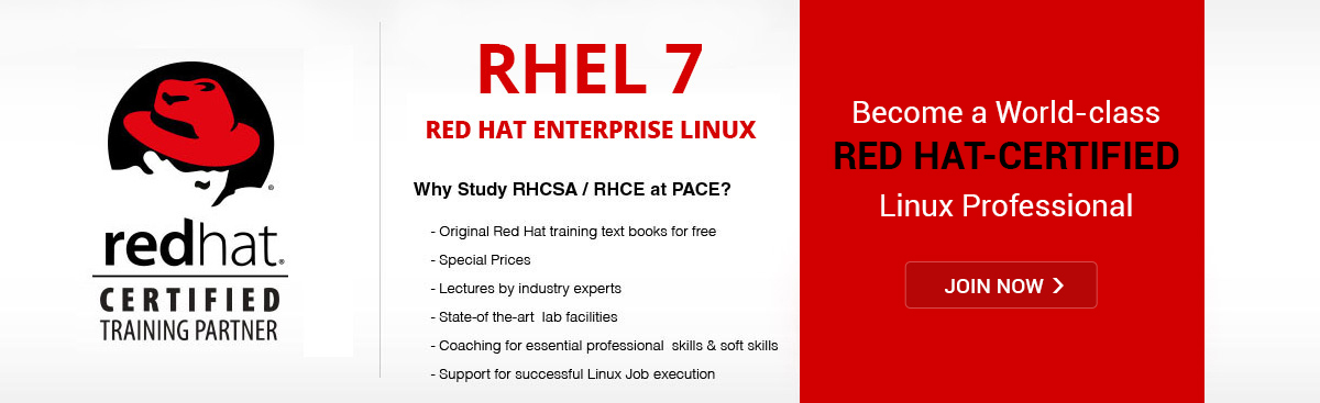 Red Hat enterprise Linux certification.