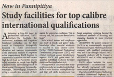 Study facilities for top calibre international qualifications