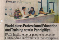 World-class Professional Education and Training now in Pannipitiya